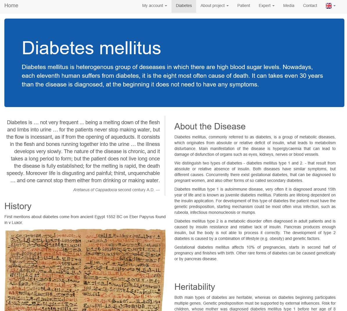the forms and characteristics of diabetes a common metabolism disease
